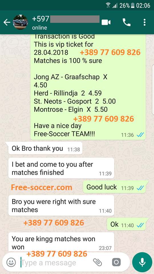 Tomorrow football match score prediction